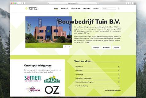website bouwbedrijf tuin